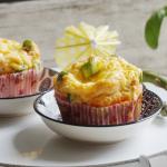 Frühstücks-Muffins mit Spargel. Rezept.
