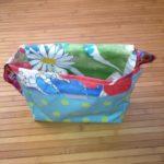 die kleine botin Kindergartentasche türkis offen
