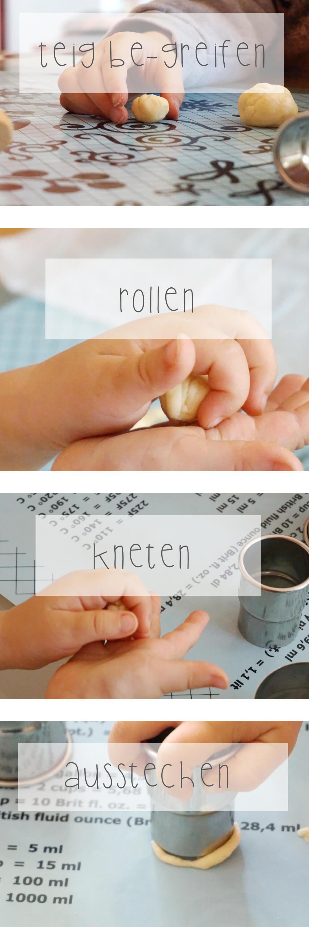 knetmasse oder teig formen