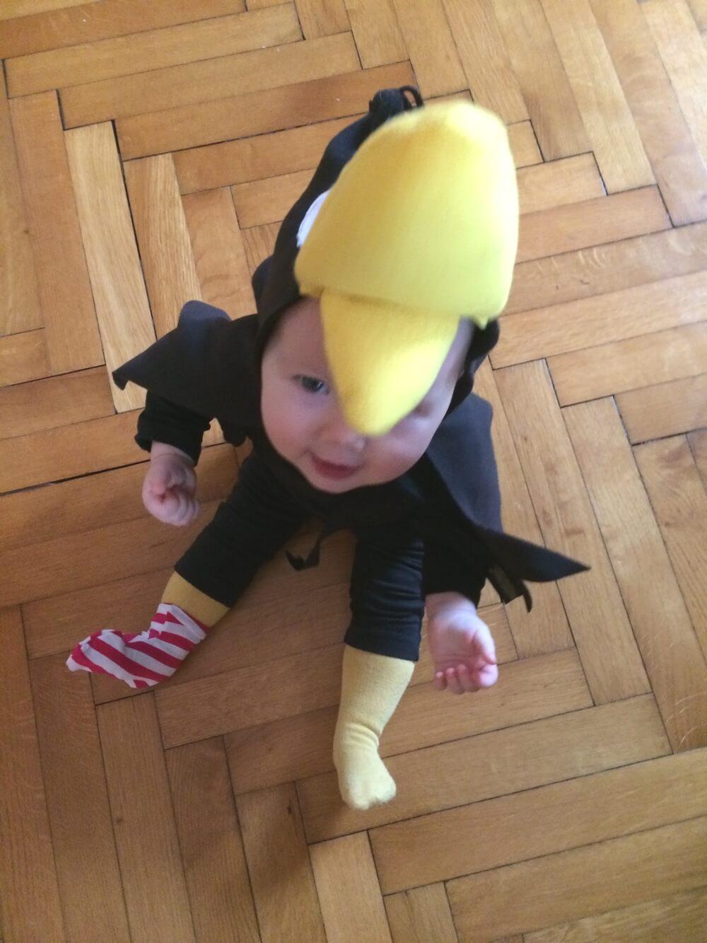 Easy Kostum Rabe Socke Kostum Nahen Die Kleine Botin
