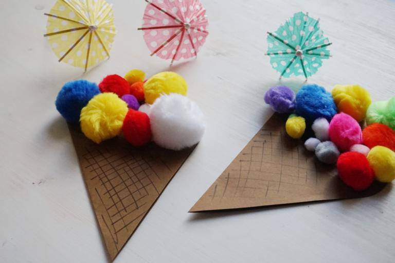 Partyeinladung | DIY mit Pompoms