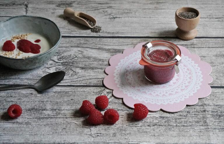 Die schnellste Marmelade der Welt | Rezept für Chia Marmelade mit Himbeeren