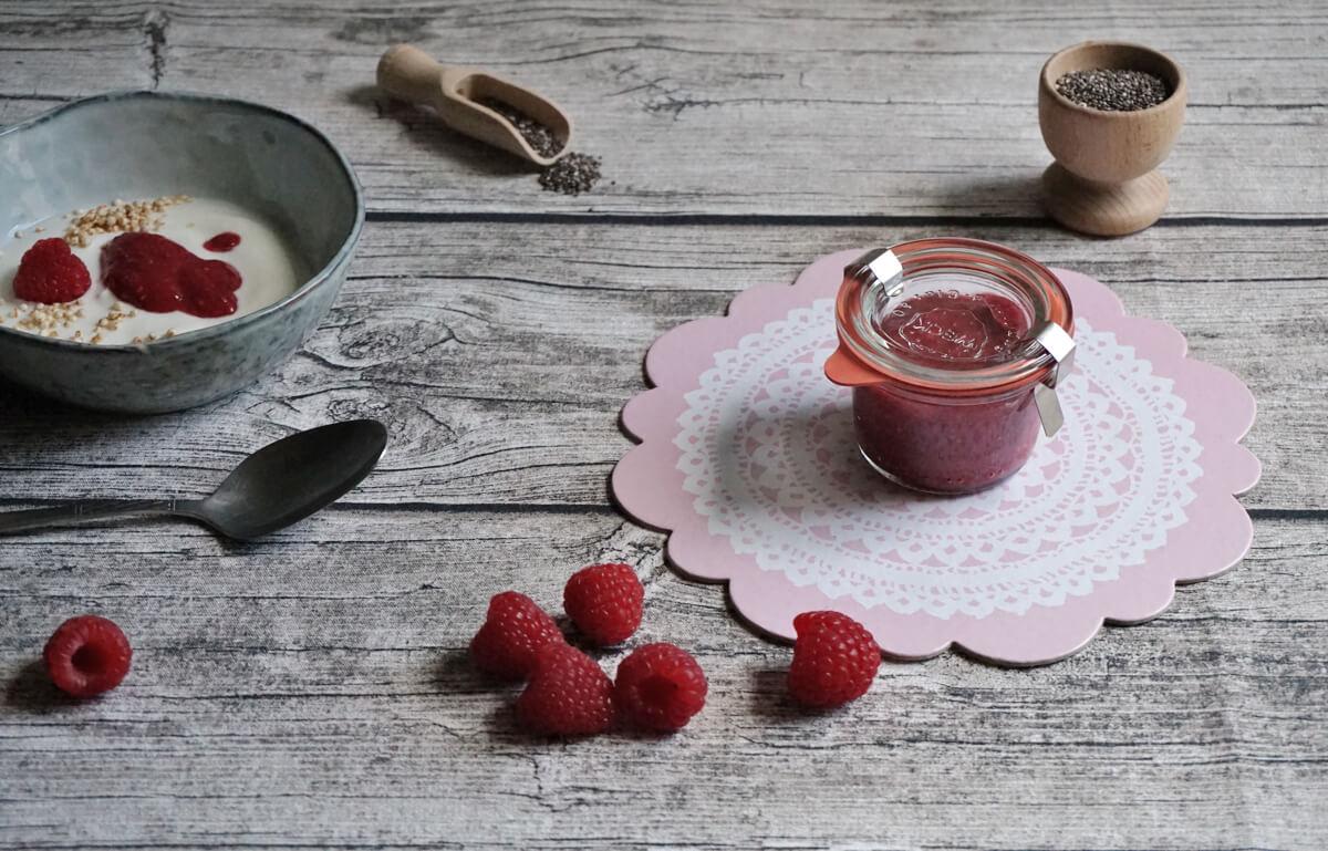 chia himbeer marmelade die kleine botin 1