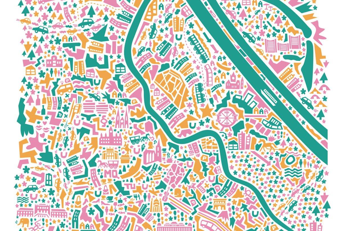 vianina map wien city guide die kleine botin