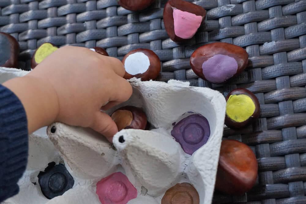 kastanien farb spiel herbst die kleine botin 2