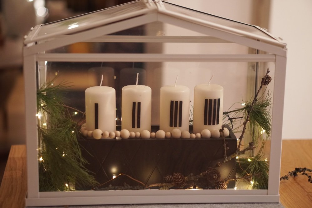 adventkranz diy minimal 3