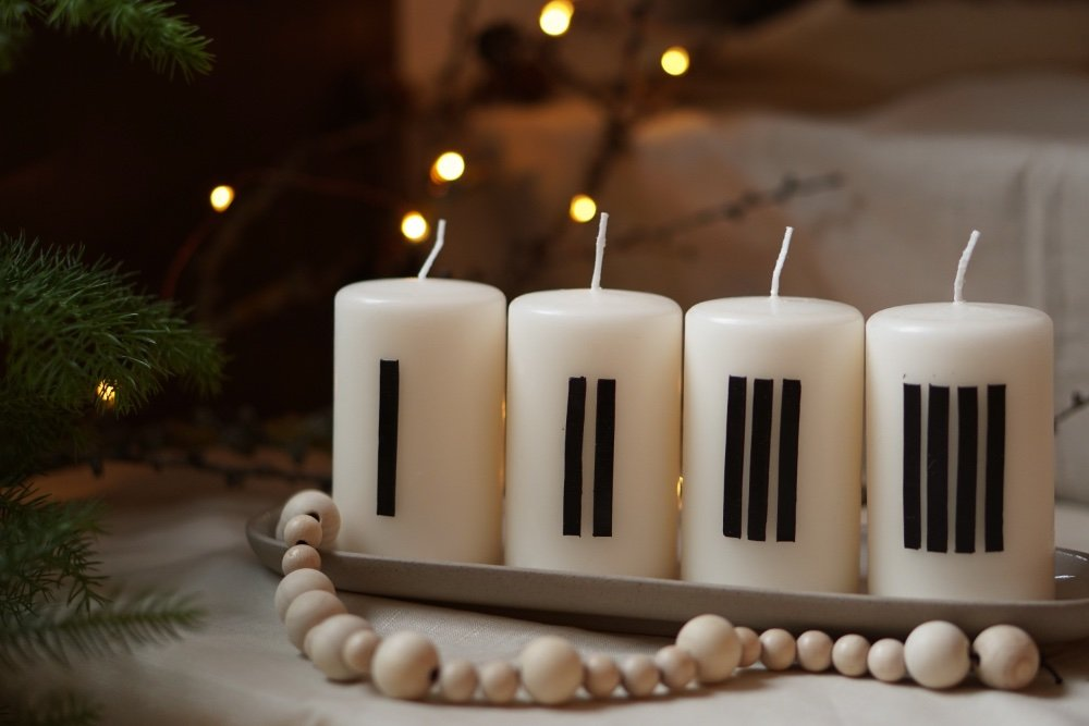 adventkranz diy minimal 4