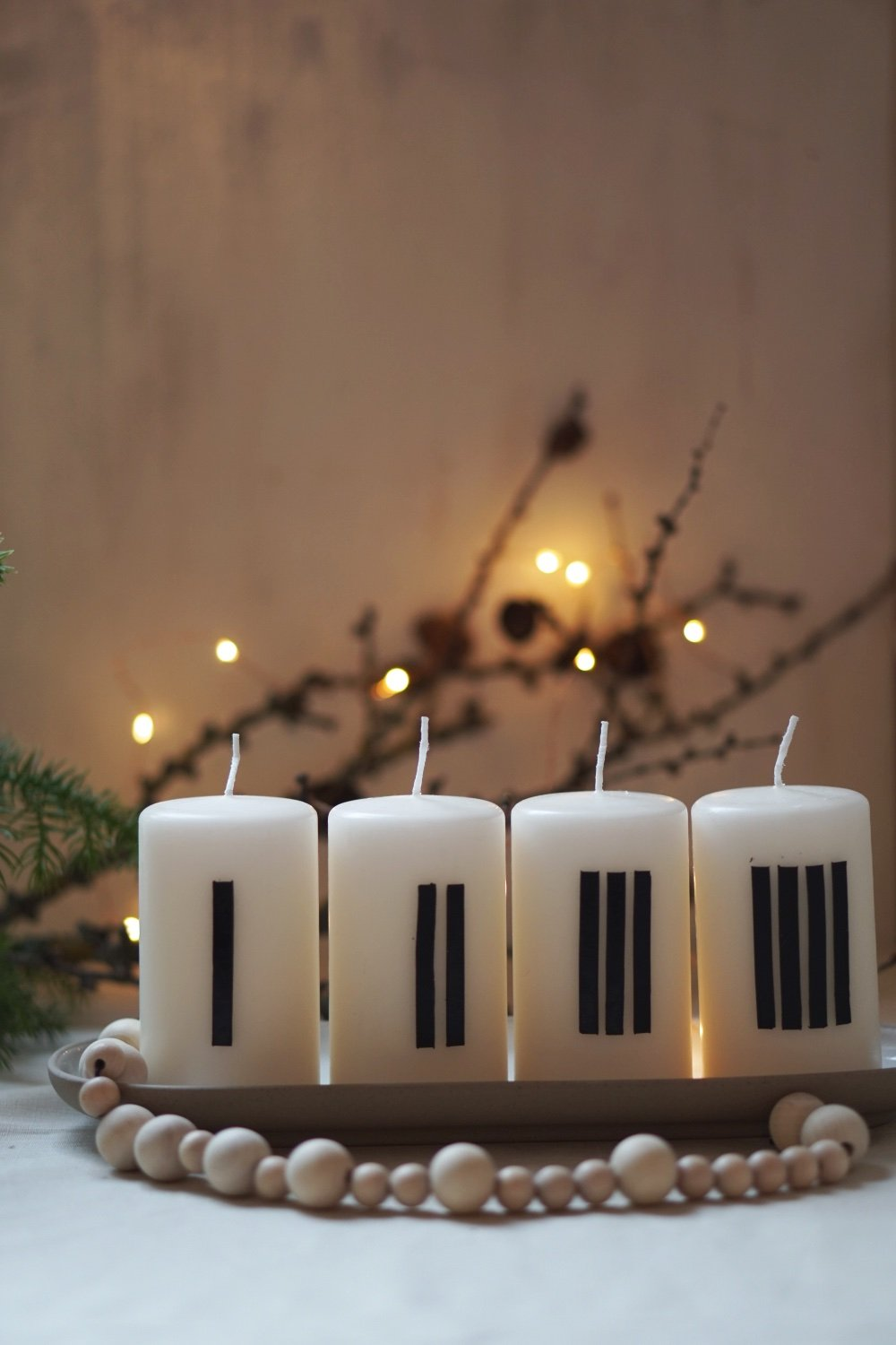 adventkranz diy minimal 5