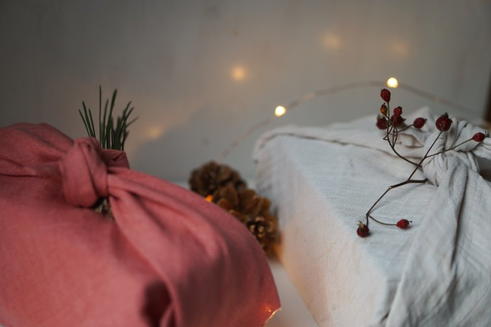 nachhaltig geschenke verpacken furoshiki tuch 2