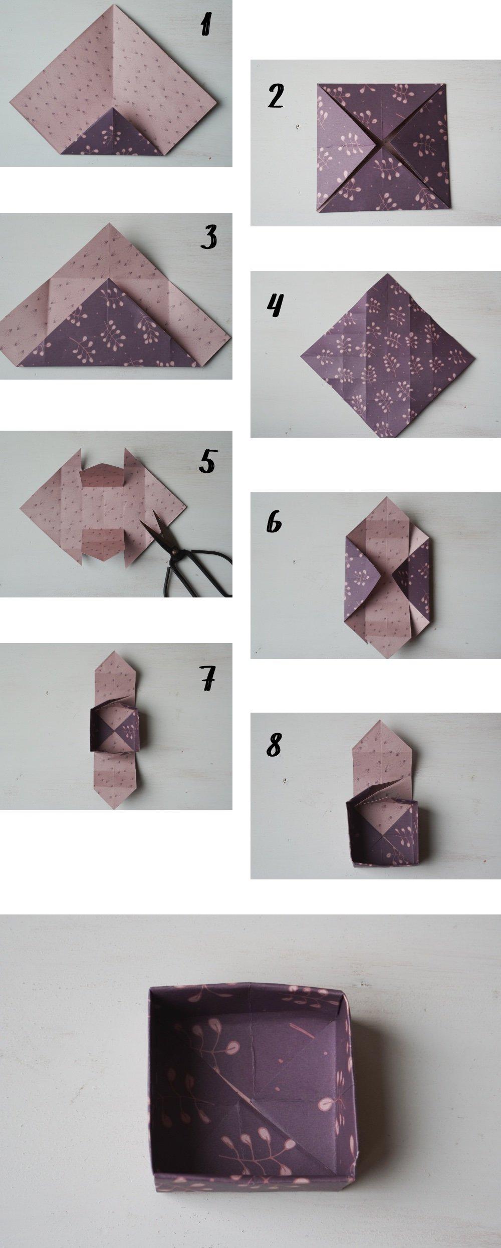 nachhaltig geschenke verpacken papierbox anleitung 1