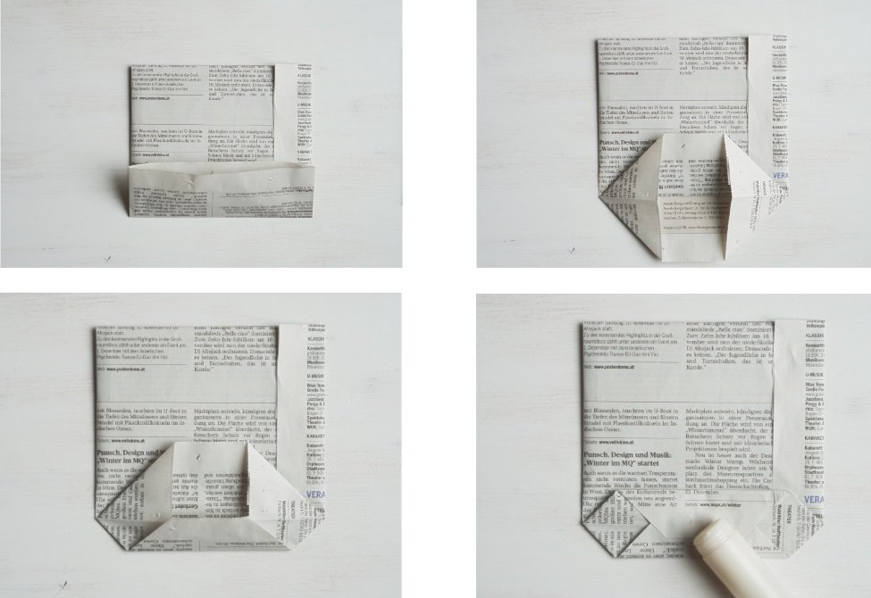 nachhaltig geschenke verpacken papiertuete anleitung