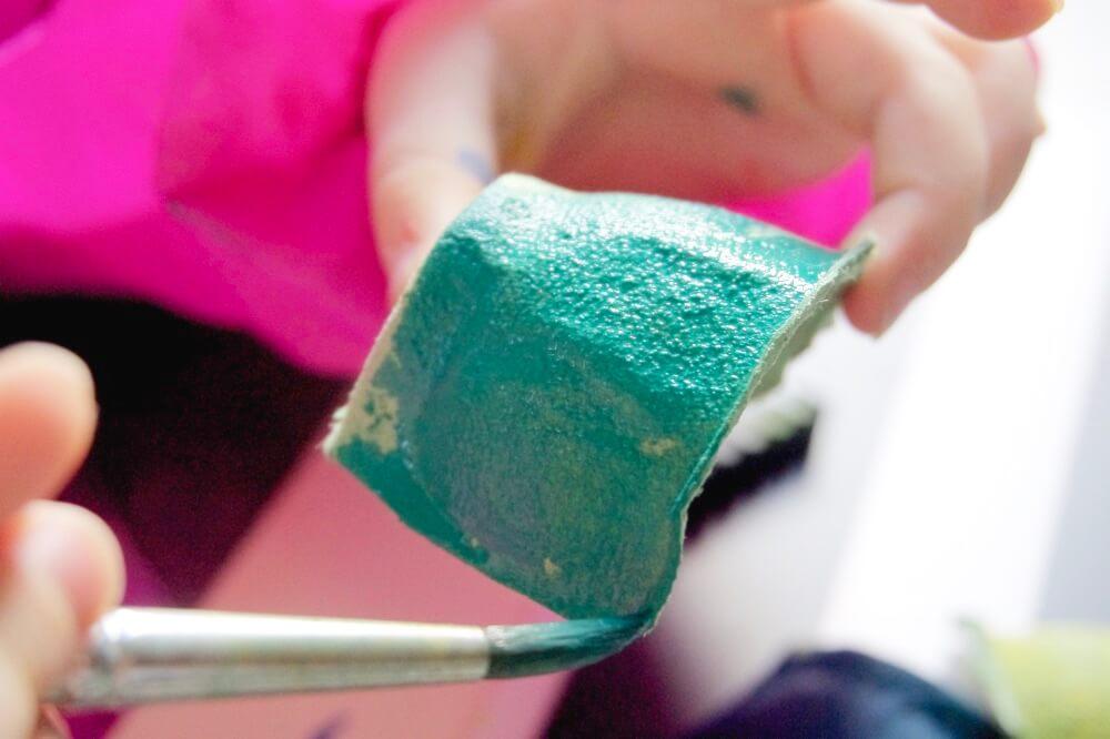 upcycling diy meerjungfrauen eierkarton die kleine botin 2 1
