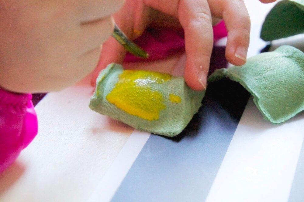 upcycling diy meerjungfrauen eierkarton die kleine botin 3