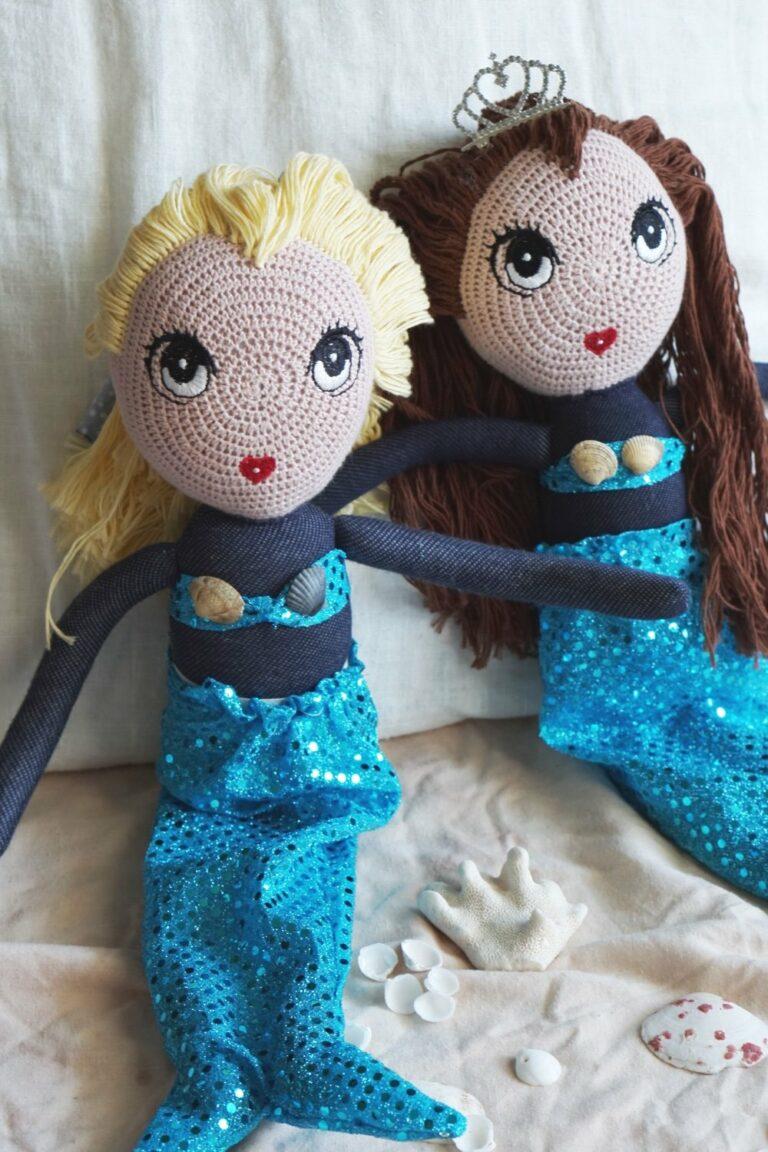 Meerjungfrau | eine schnelle DIY-Flosse für die Puppe