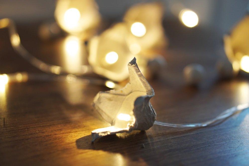 upcycling eierkarton lichterkette 2