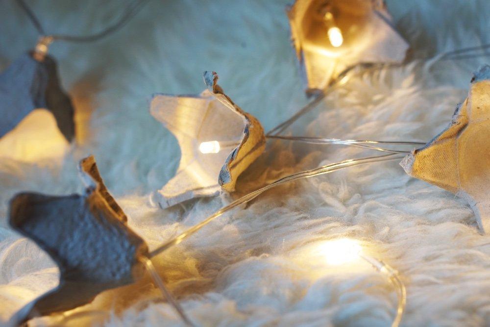 upcycling eierkarton lichterkette 3