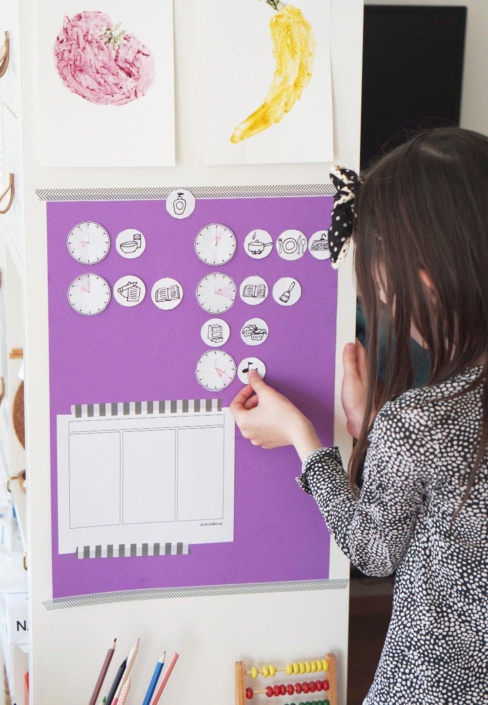 wochenplaner kinder homeschooling