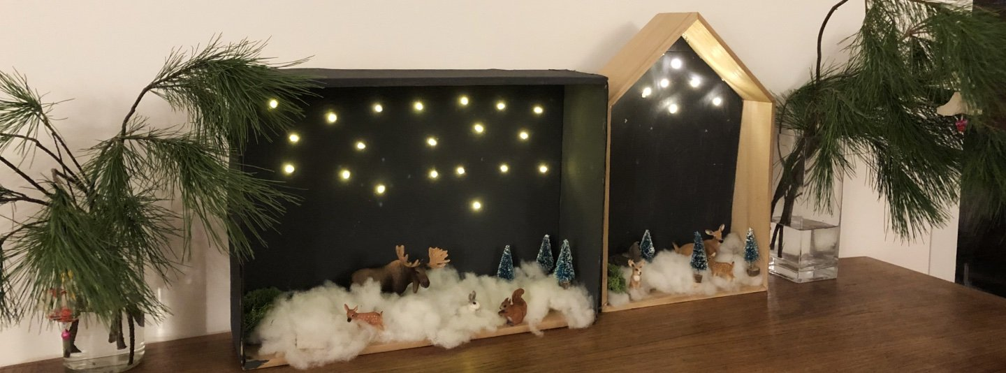 winterlandschaft karton diy 1