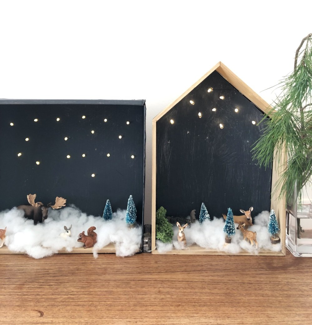 winterlandschaft karton diy 6