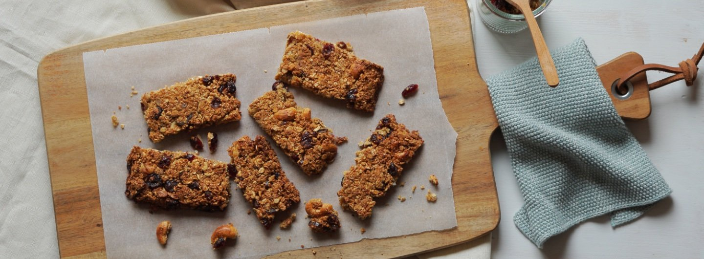 einfache snacks rezept muesliriegel header