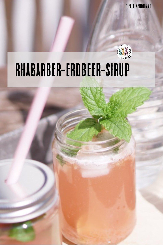 rhabarber erdbeer sirup pinterest 2019 2