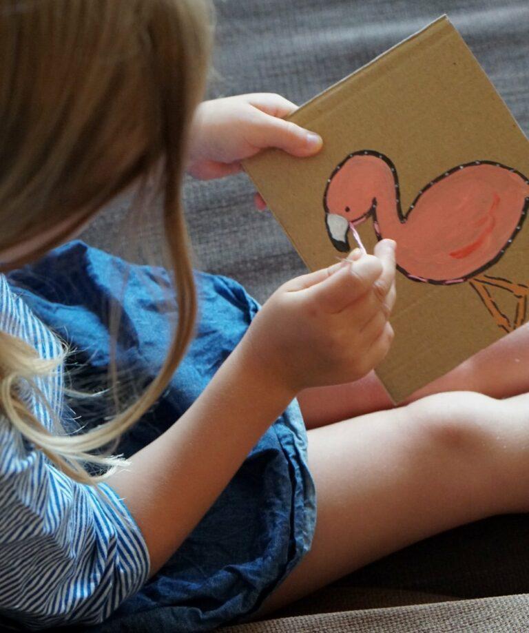 Stickkarton – Selbstgemachte Bilder für Kinder | DIY