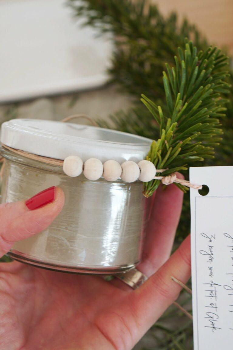 Weihnachtsbaum Upcycling | Tannen-Duft-Kerze
