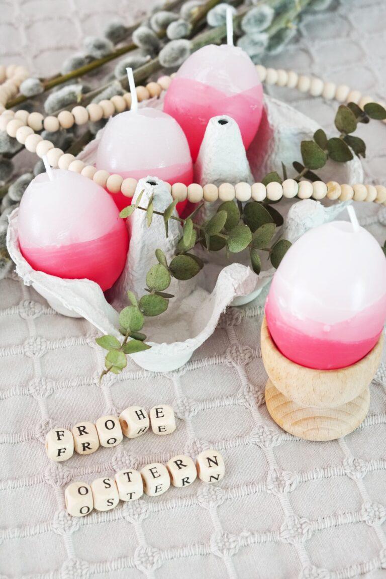 Bunte Kerzen gießen – Osterkerzen mit Farbverlauf