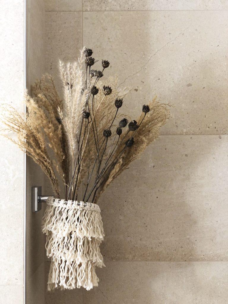 Makramee fürs Badezimmer und Befestigung ohne Bohren